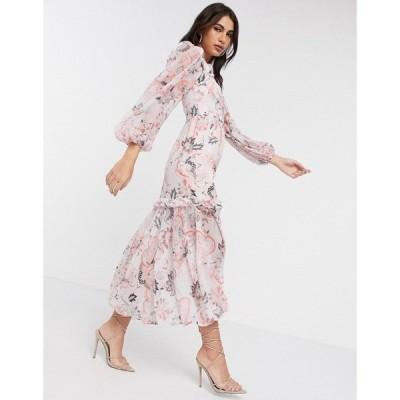 リバーアイランド River Island レディース ワンピース ワンピース・ドレス paisley long sleeved dress in pink ピンク