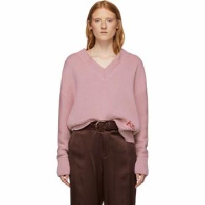 アミアレクサンドルマテュッシ AMI Alexandre Mattiussi レディース ニット・セーター トップス Pink Oversized Logo Sweater Rose