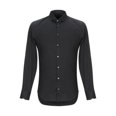 GAZZARRINI シャツ ブラック S コットン 97% / ポリウレタン 3% シャツ