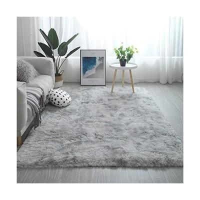 YJ.GWL 洗える ラグ 2畳 ラグマット カーペット シャギーラグ 絨毯 120 x 160cm 滑り止め付き ふわふわ サラサラ 長方