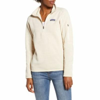 パタゴニア PATAGONIA レディース ニット・セーター トップス 'Better Sweater' Quarter Zip Jacket Birch White