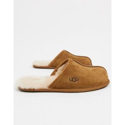アグ メンズ サンダル シューズ UGG scuff slippers in tan suede Tan
