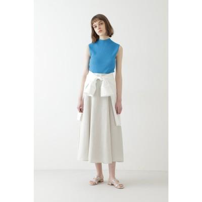 ◆ソフトリネンセットアップスカート ベージュ