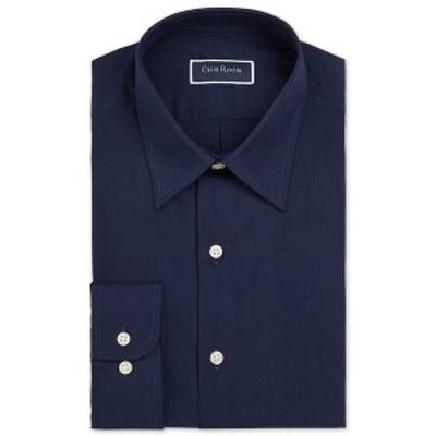 クラブルーム メンズ シャツ トップス Men's Classic/Regular-Fit Solid Dress Shirt, Created for Macy's Navy