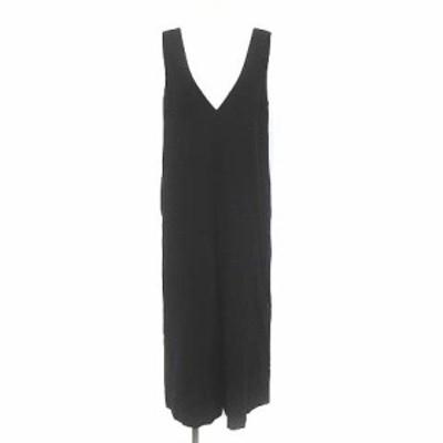 【中古】イエナ スローブ 18AW オールインワン オーバーオール ウール ジャンプスーツ ワイドパンツ 36 S 黒