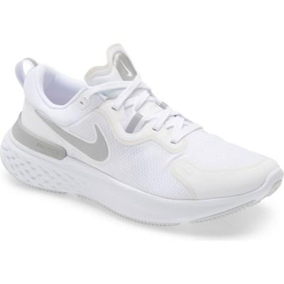 ナイキ NIKE レディース ランニング・ウォーキング シューズ・靴 React Miler Running Shoe White/Silver/Platinum