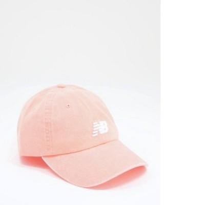ニューバランス レディース 帽子 アクセサリー New Balance stacked logo cap in pink Pink