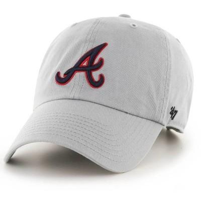 フォーティーセブン メンズ 帽子 アクセサリー '47 Men's Atlanta Braves Storm Clean Up Adjustable Hat