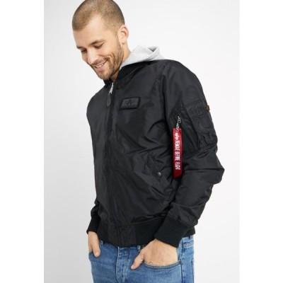 アルファインダストリーズ メンズ ファッション HOOD - Bomber Jacket - black