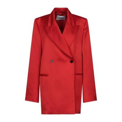 エムエスジーエム MSGM テーラードジャケット レッド 38 ポリエステル 100% テーラードジャケット
