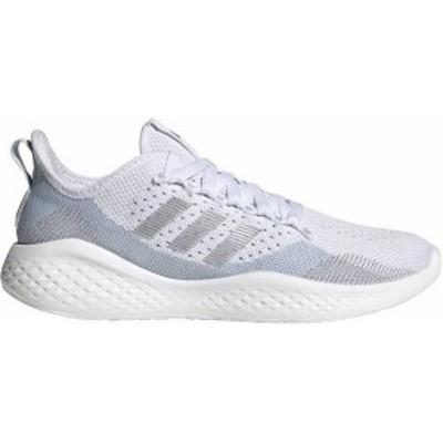 アディダス レディース スニーカー シューズ adidas Women's Fluidflow 2.0 Shoes White/Silver/Blue