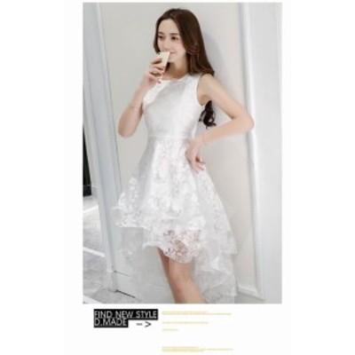 2020年新作 送料無料 パーティードレス ウエディングドレス フィッシュテールドレス ミディアムドレス 結婚式 演奏会 発表会 二次会 安い