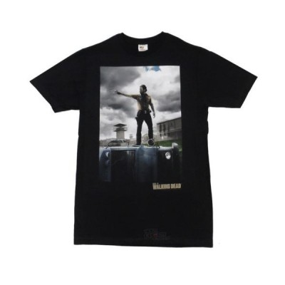 Tシャツ ウォーキングデッド The Walking Dead Rick Poster Rick On Bus Licensed Adult T Shirt