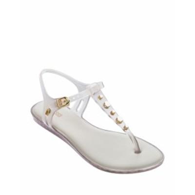 メリッサシューズ レディース サンダル シューズ Solar Studded Jelly Thong Sandals BEIGE GOLD