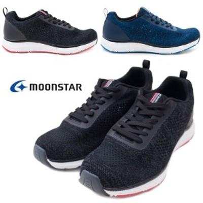 【MOONSTAR】SNGY M02 メンズ ウォーキングシューズ スニーカー シナジークッション 3E ムーンスター 紐靴 ブラック ネイビー /MR
