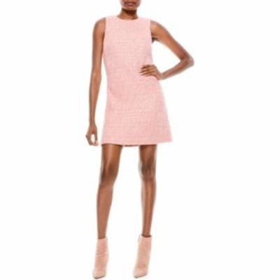 アリス アンド オリビア ALICE + OLIVIA レディース ワンピース ワンピース・ドレス Coley Tweed A-Line Shift Minidress Rose