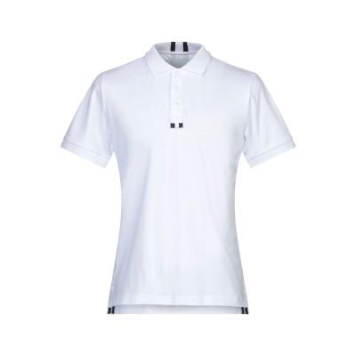 2SHIRTS.AGO ポロシャツ ホワイト L コットン 92% / ポリウレタン 8% / ナイロン ポロシャツ