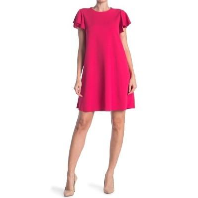 タッシュプラスソフィー レディース ワンピース トップス Flutter Sleeve A-Line Dress WINE