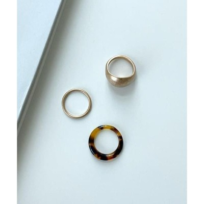 WITHMOMENT レディース リング formica layered rings