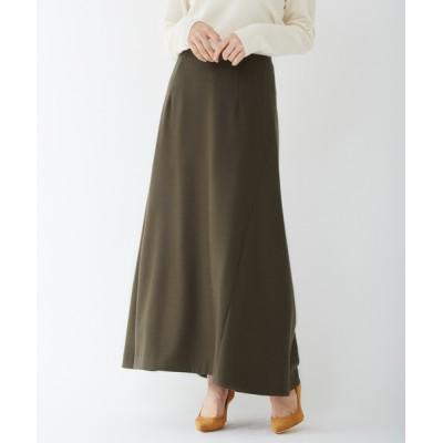 スカート 【COCUCA】フレアロングスカート