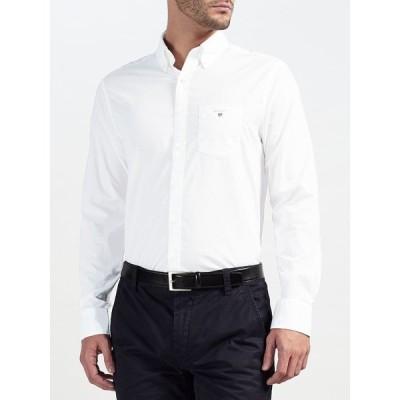 ガント シャツ メンズ トップス GANT Plain Broadcloth Regular Fit Shirt
