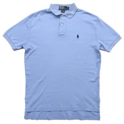 ポロラルフローレン ワンポイントロゴ ポロシャツ 水色 サイズ表記:S