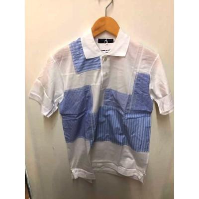 コムデギャルソンオム COMME des GARCONS HOMME AD2015 パッチワークポロシャツ メンズ S 中古 201125