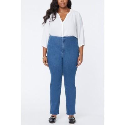 エヌワイディージェイ デニムパンツ ボトムス レディース Women's Plus Size Marilyn Straight Jeans in Forver Slimming Denim Tranquil
