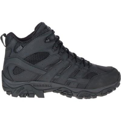 メレル ブーツ&レインブーツ シューズ メンズ Merrell Men's Moab 2 Mid Waterproof Tactical Boots Black