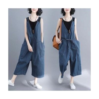 サロペット 20代 30代 40代 50代 デニム コーデ 20代 オールインワン レディース デニムパンツ ファッション 女性 カジュアル 夏 夏服