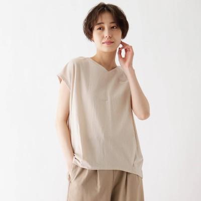 シューラルー SHOO-LA-RUE ひんやり後ろタックTシャツ (ナチュラル)