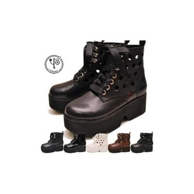 厚底ブーツ ショート レディース 本革 ヨースケ YOSUKE 靴 ※(予約)は3営業日内に発送」