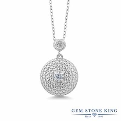 ネックレス レディース 0.26カラット 天然 ダイヤモンド ペンダント  サークル ダイヤ 小粒 大ぶり 大きめ 天然石 4月 誕生石 プレゼント