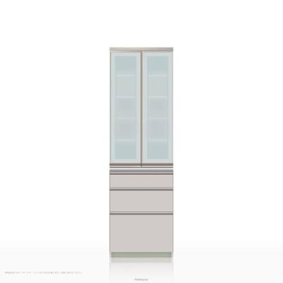 食器棚 パモウナ IEシリーズ IE-S600K [開き扉] (幅60cm, 奥行き45cm, シルキーアッシュ色)