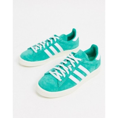 アディダス レディース スニーカー シューズ adidas Originals Campus 80's sneakers in green