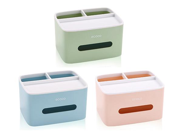 桌上型紙巾盒/搖控器收納盒(1入)【D966019】款式隨機出貨