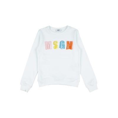 エムエスジーエム MSGM スウェットシャツ ホワイト 4 コットン 100% スウェットシャツ