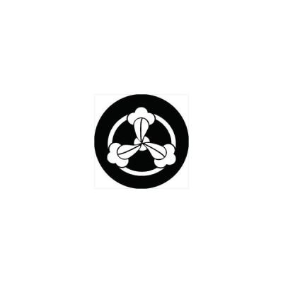 家紋シール 竜の爪紋 直径4cm 丸型 白紋 4枚セット KS44M-3041W
