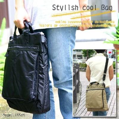 B4サイズ対応 ボンディング加工でソフト素材細かなディテールに革を使った2wayナイロンビジネスバッグ