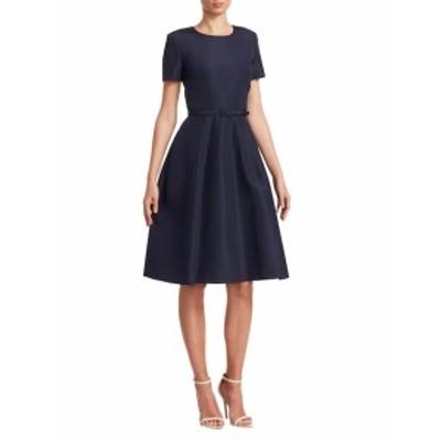 キャロライナヘレラ レディース ワンピース Faille Silk Midi Dress