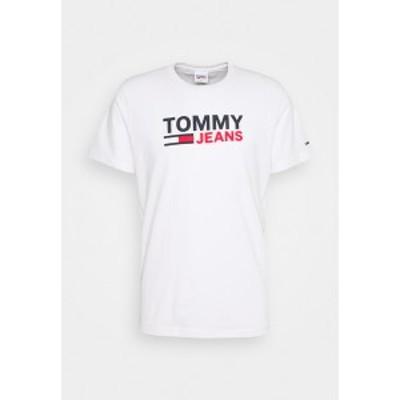 トミーヒルフィガー メンズ Tシャツ トップス CORP LOGO TEE - Print T-shirt - white white