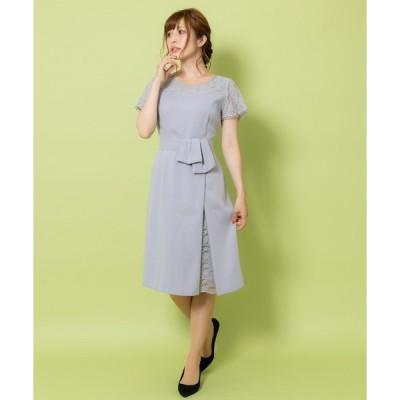 ドレス ラップ風ワンピース(9R04-05045)結婚式・2次会・パーティドレス