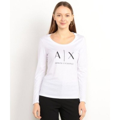 tシャツ Tシャツ 【A|Xアルマーニ エクスチェンジ】A|Xロゴ 長袖クルーネックTシャツ/SLIMT-SHIRT