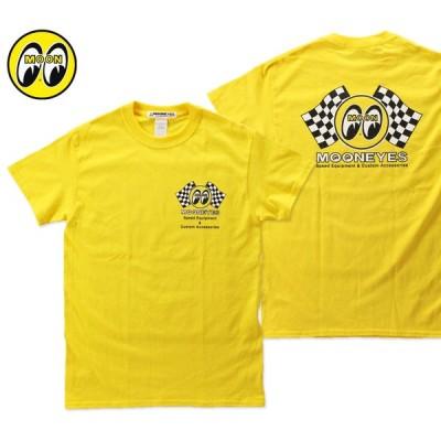 ムーンアイズ Tシャツ メンズ 半袖 アメカジ おしゃれ かっこいい かわいい ホットロッド レーシング モーター MOONEYES CHECKER MOON