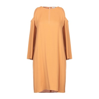 GOLD CASE ミニワンピース&ドレス キャメル 38 レーヨン 100% ミニワンピース&ドレス