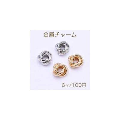 金属チャーム 3連リング 15mm【6ヶ】