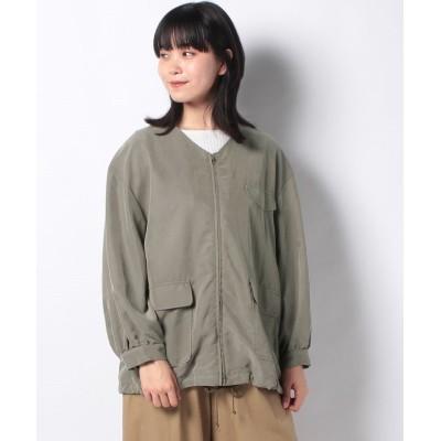 【ハウピア】 ビターな風ジャケット レディース グリーン 38 haupia