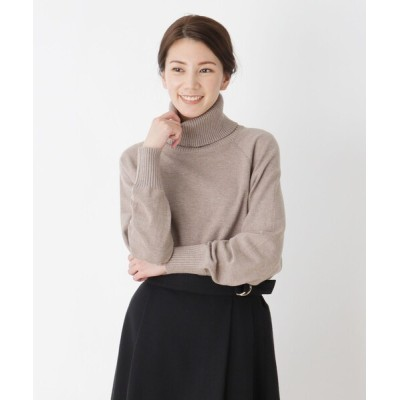 SHOO・LA・RUE / 【M-LL】裾カーブ前後タートルニット WOMEN トップス > ニット/セーター