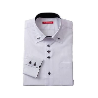 形態安定長袖ワイシャツ(マイタードゥエボタンダウン)(標準シルエット) (ワイシャツ)Shirts,