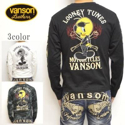 バンソン VANSON ルーニーテューンズ LTV-924 天竺 長袖Tシャツ ロンT トゥイーティー メンズ トップス